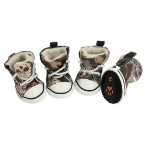 Camouflage Print Dog Boots
