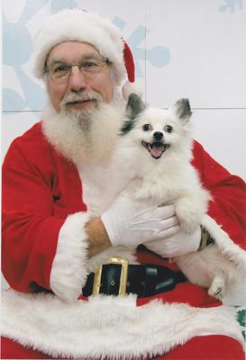 Smiling with Santa!