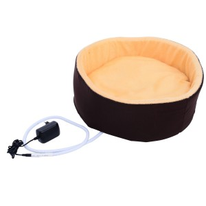 Pawhut Indoor Electric Heated Round Dog Pet Bed