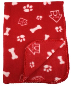 10. Bogo Brands Bone and Paw Dog Blanket
