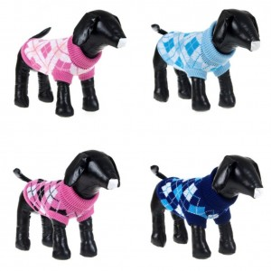 2. PanDaDa Plaid Style Dog Sweater