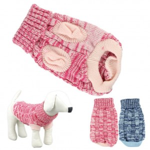 5. HP95 Knitted Twist Design Dog Sweater