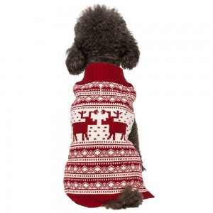 6. Blueberry Pet Christmas Sweater