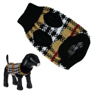 8. HP95 Checked Dog Sweater