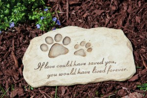 Dog Paw Print Devotion Garden Stone