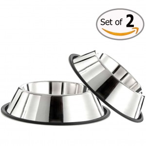 Anti-Slipping Stainless Steel Dog Bowl