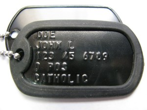 Black Custom US Military Dog Tag