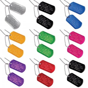 Custom US Military Dog Tag Personalized ID Set