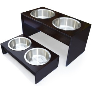 Elevated Dog Feeder in Solid Wood