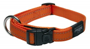 Reflective Fanbelt Dog Collar