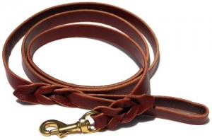 Signature K9 Braided Leather Leash