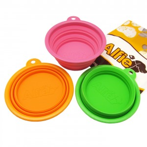 Silicone Dog Collapsible Travel Bowl