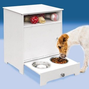 Wooden Pet Food Storage Cabinet