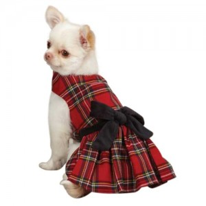 East Side Collection Holiday Tartan Pet Dress