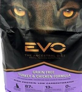 Evo Grain Free Turkey and Chicken formula