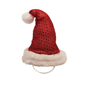 Plush LED Santa Hat