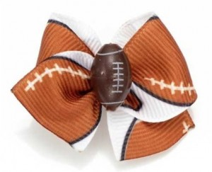 Puppy Kisses Football Hairbows