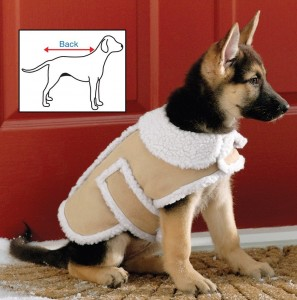 Shearling Fleece Dog Winter Coat