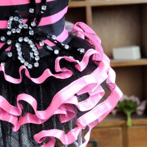 Urparcel Striped Tutu Dress with Spider Design