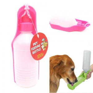 PETS DOG WATER BOTTLE BOWL PORTABLE DRINK DISH
